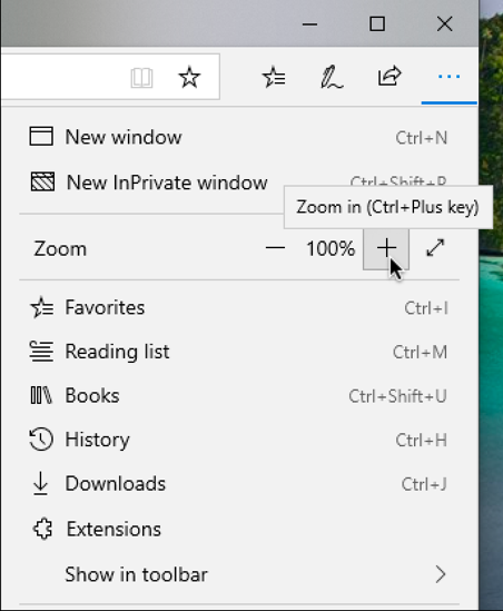 microsoft edge preferences