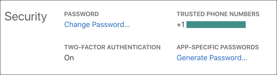 app specific password, appleid icloud