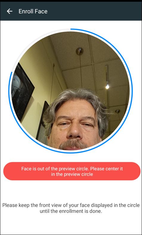 center face, enroll face unlock, android
