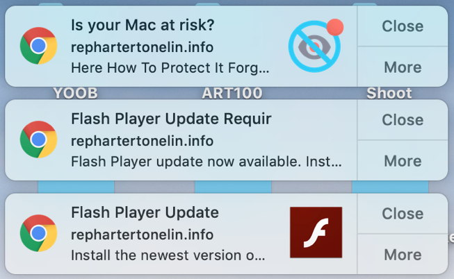 google chrome spam notifications flash