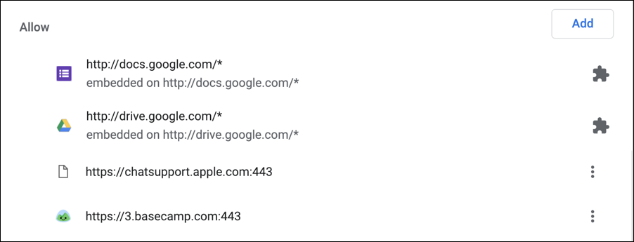 google chrome notifications - approve - approved sites