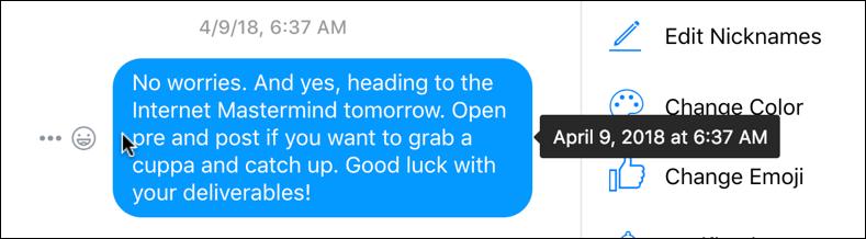 facebook messenger delete old message