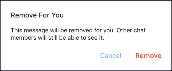 facebook messenger - remove for you