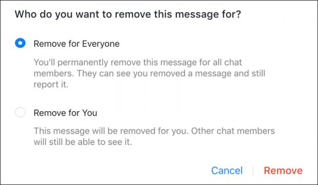 كيف يمكنني حذف الرسائل المرسلة في الفيسبوك ماسنجر للطرفين ؟