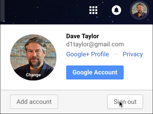 log out sign out off gmail google