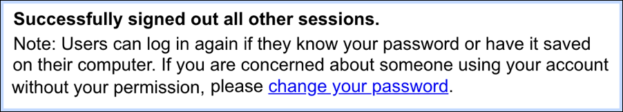 gmail logged out other sessions