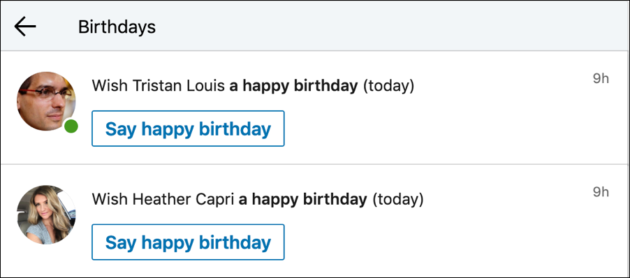 list of happy birthday birthdays linkedin