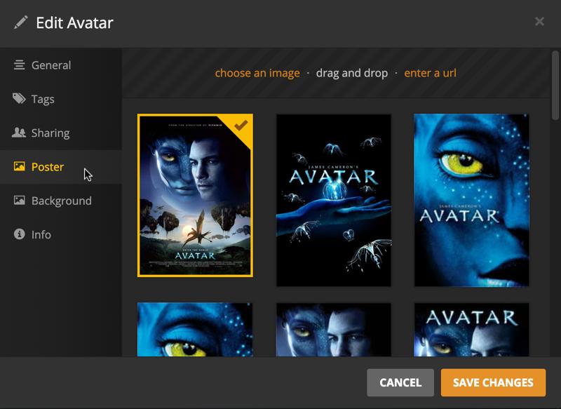 avatar movie poster options, plex media server