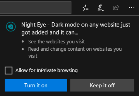 enable microsoft edge extension
