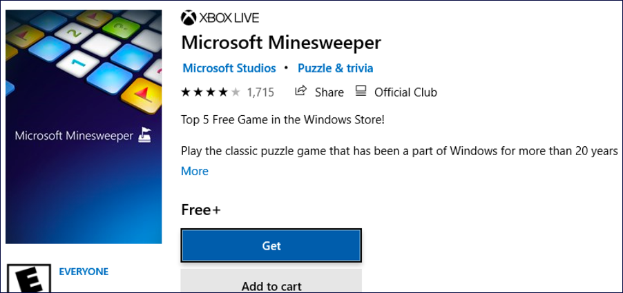microsoft minesweeper for windows 10 win10
