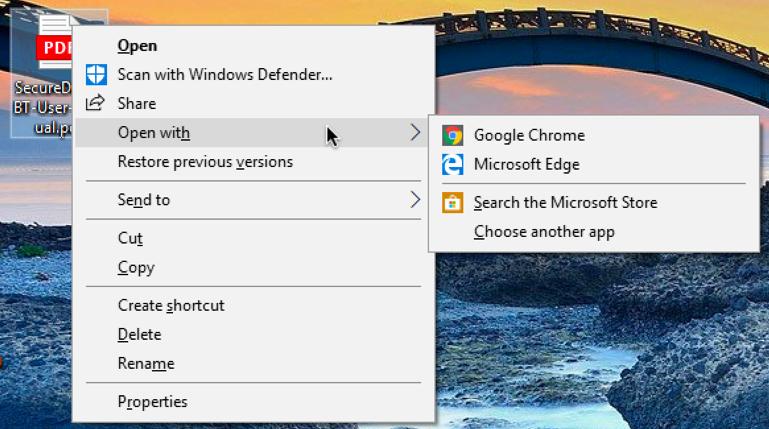 windows 10 - open pdf apps programs
