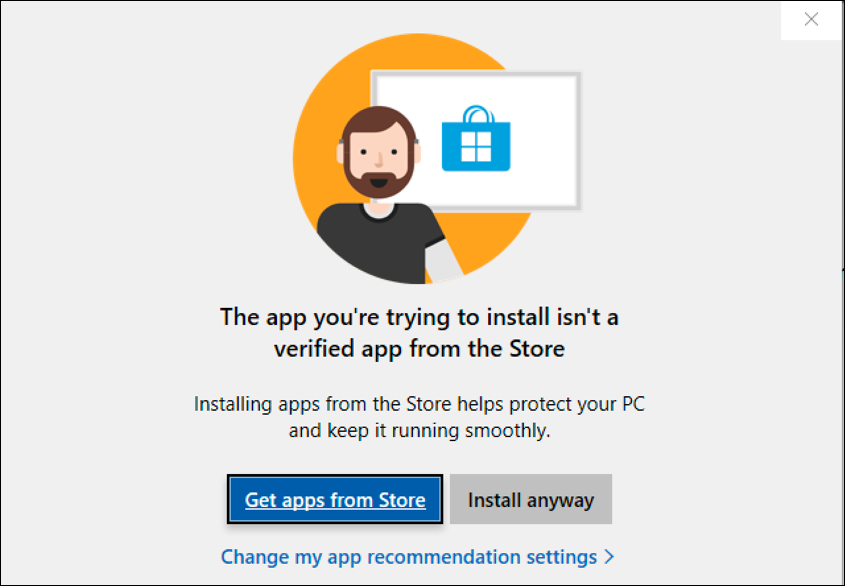 install software not from microsoft store?