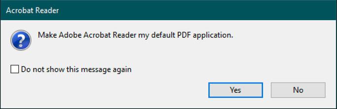 set adobe acrobat as default pdf reader