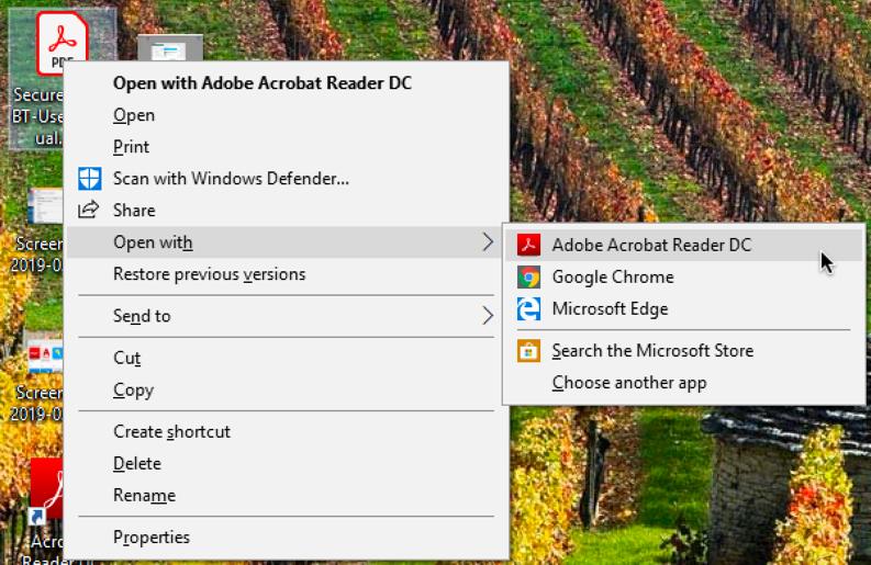 new default pdf reader, windows 10, adobe acrobat
