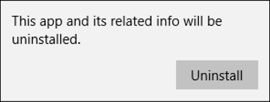 sure you want to delete remove uninstall program app win10