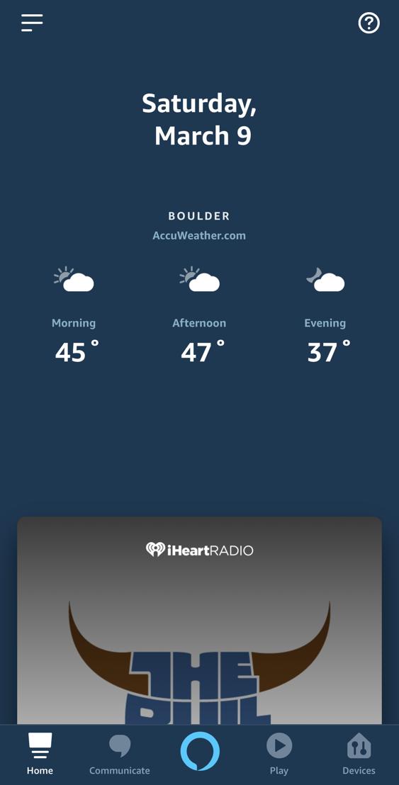 alexa app iphone main screen