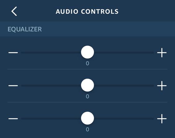 amazon echo dot - alexa - audio controls eq