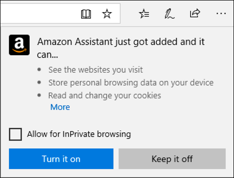 enable amazon assistant extension?
