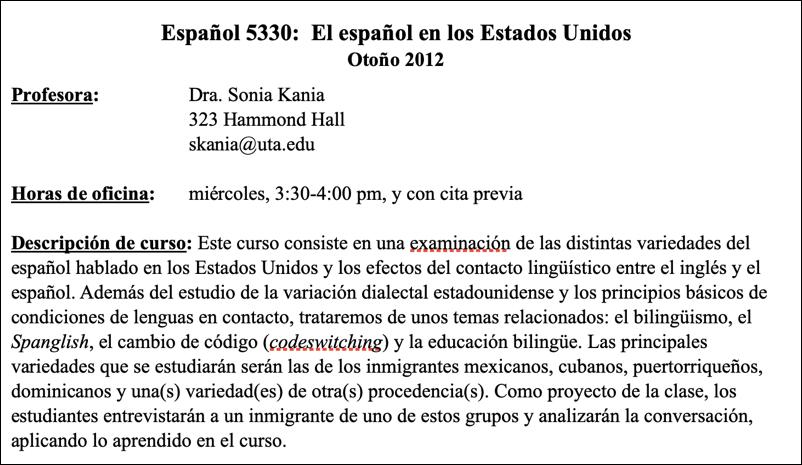 word doc file syllabus spanish espanol