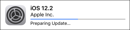 iphone apple ios 12.2 preparing update