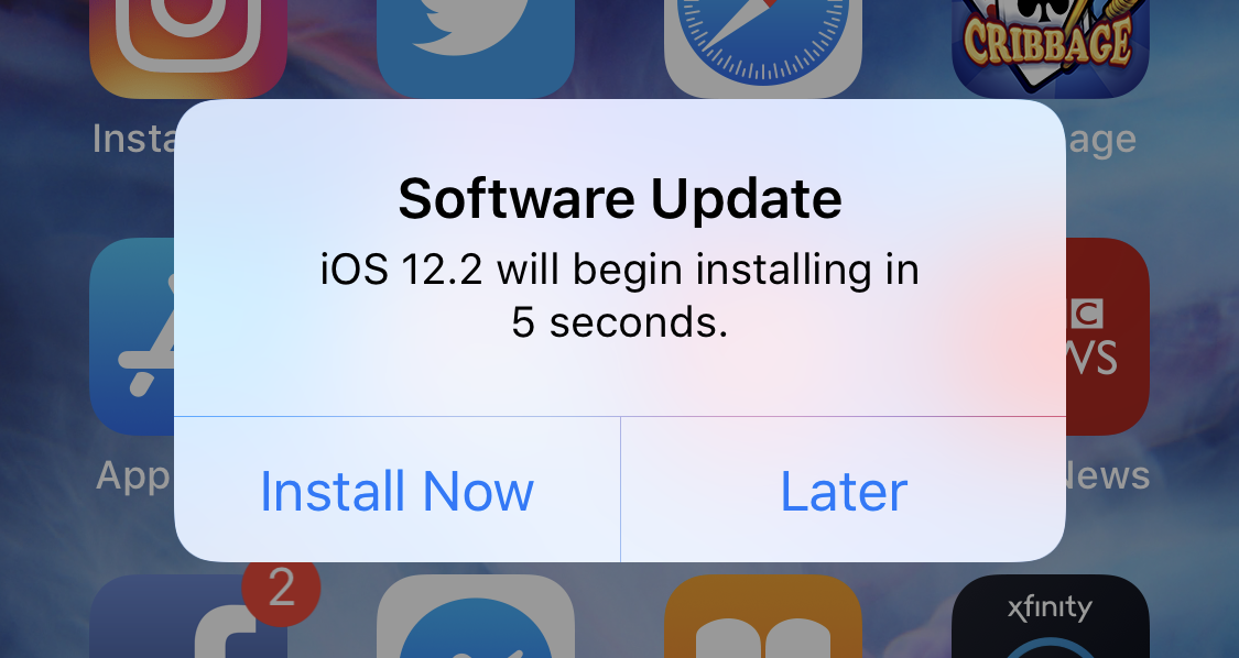 iphone updating to ios 12.2