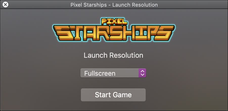 pixel starships opening splash screen