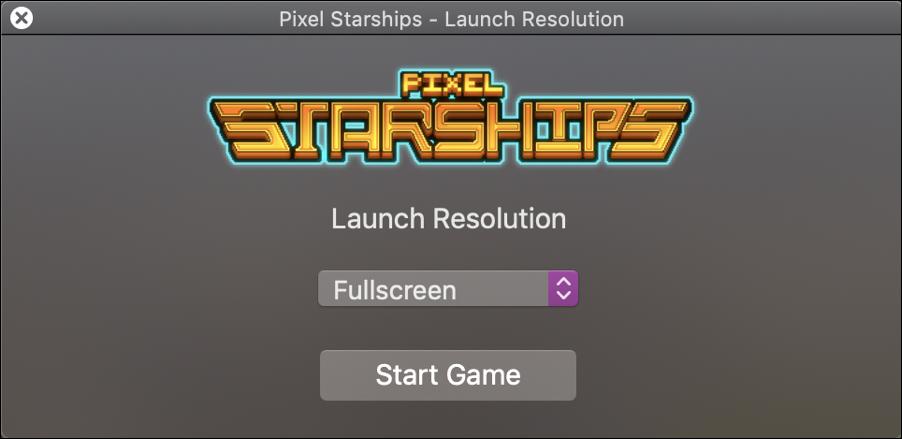pixel starships opening splash screen