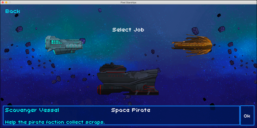 8-bit pixel starships pick a ship