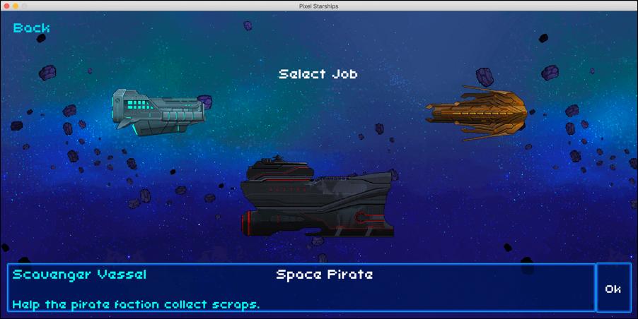 8-bit pixel starships pick a ship