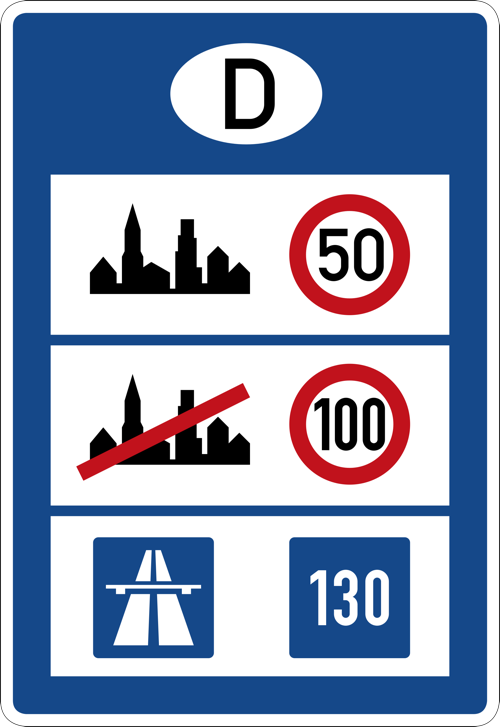 international speed signage