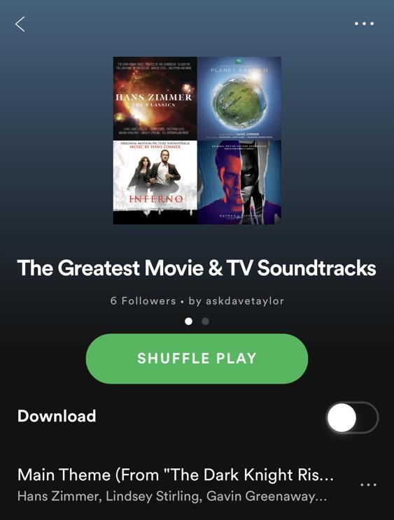 greatest movie and tv soundtracks playlist spotify