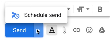 gmail - schedule send