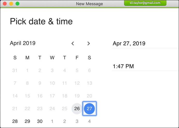 gmail schedule send - calendar clock time dat