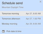 how to schedule email gmail google mail defer delay