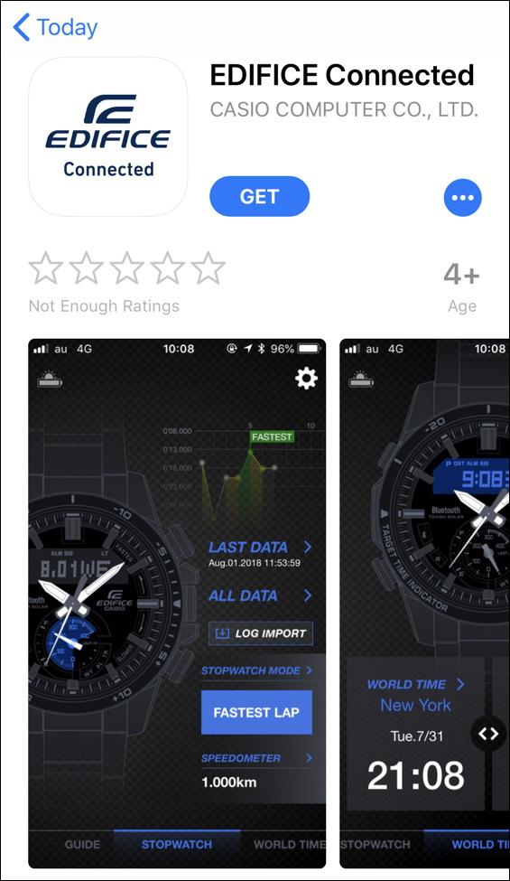 casio edifice app in iphone ios apple app store