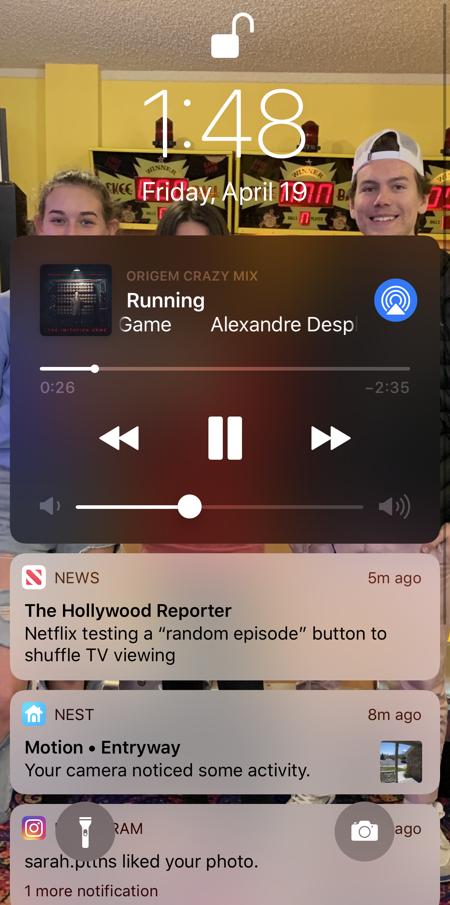 iphone lock screen notifiations