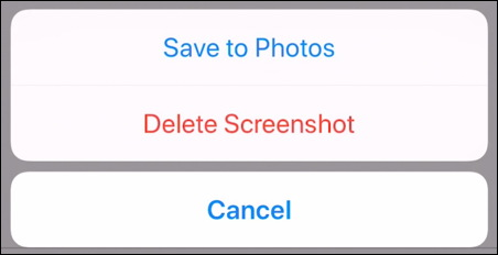 iphone screenshot editor - save to photos delete