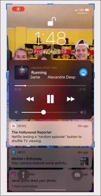 iphone screenshot capture crop cropped
