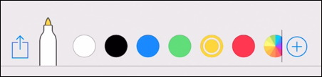 iphone mac screenshot editor ink color selector