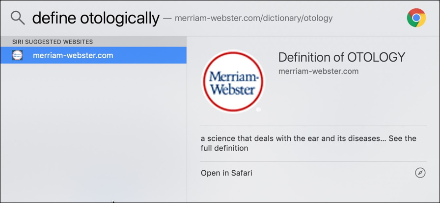 mac spotlight - define word miriam-webster