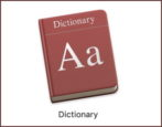 how to use dictionary - mac macos x