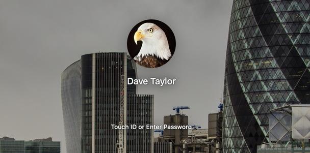 mac login - fingerprint finger or password