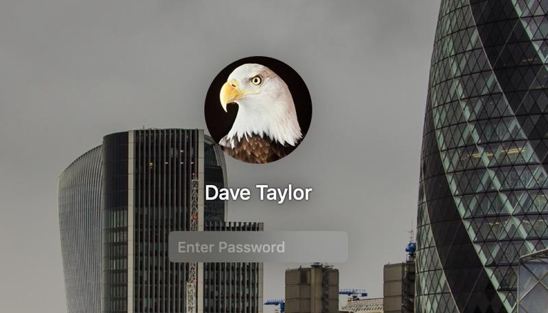 mac login - enter password