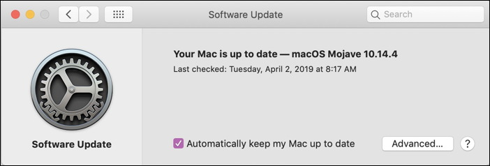 mac macos x - automatic system updates
