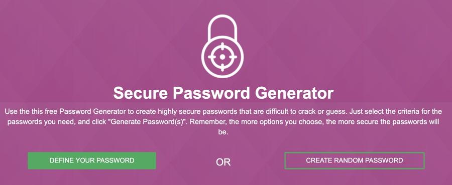 vpnmentor secure password generator