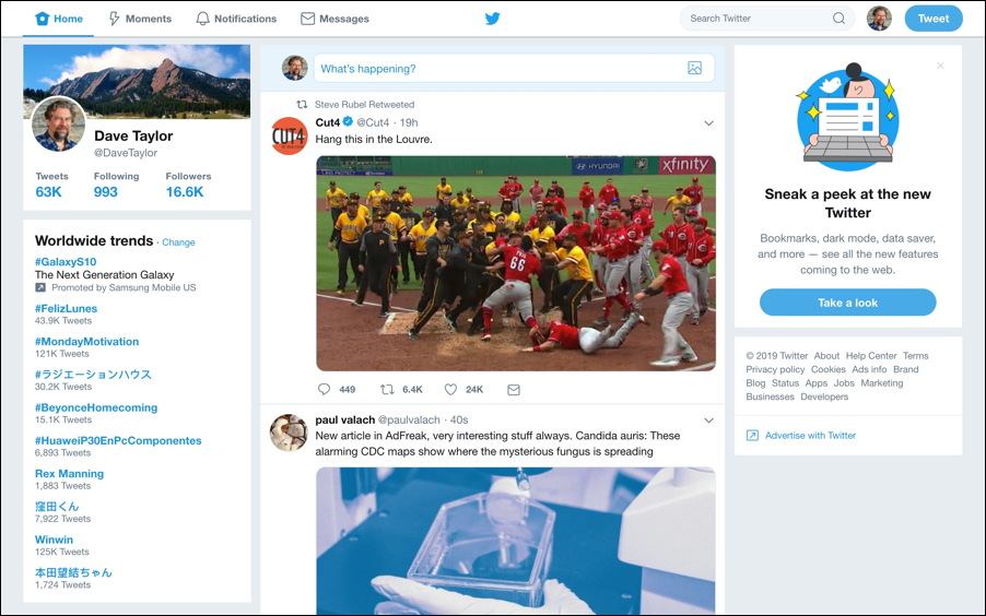 twitter ui web chrome