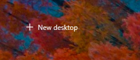 win10 timeline - new desktop virtual