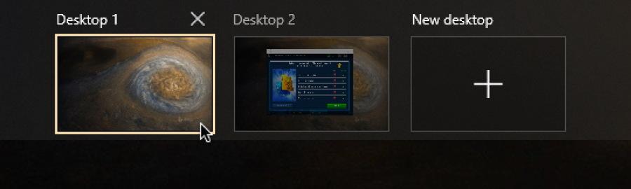 win10 virtual desktop - game solitaire desktop 2