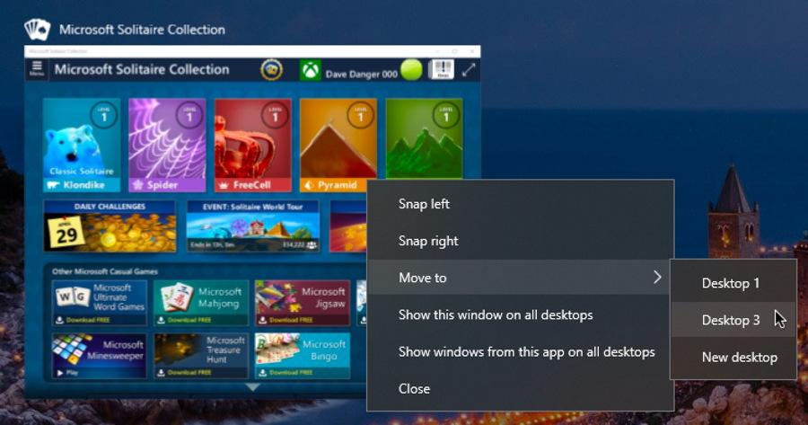 win10 virtual desktop move window controls menu