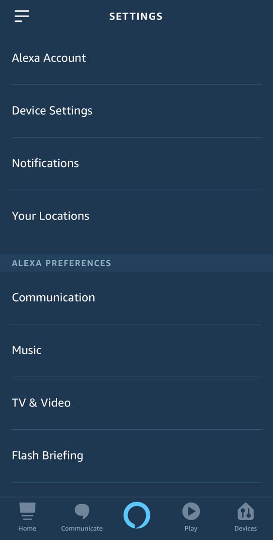 amazon echo alexa app - iphone - settings preferences privacy
